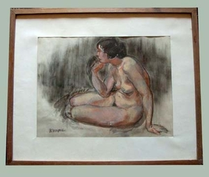 Charles KVAPIL - Pintura - Nu