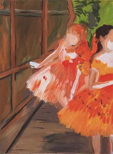 Karen KILIMNIK - Grabado - Dancers in the Wings, Moths, Paris Opera, Degas
