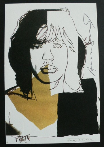 Andy WARHOL - Stampa Multiplo - Mick Jagger