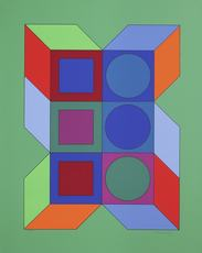 Victor VASARELY - Stampa Multiplo - Xico VY-29-B