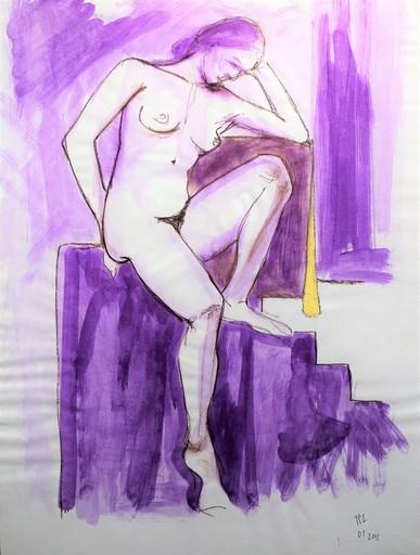 R.CAVALIÉ - Drawing-Watercolor - N.R. 134