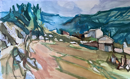 Kiichiro HAYASHI - Zeichnung Aquarell - Paysage