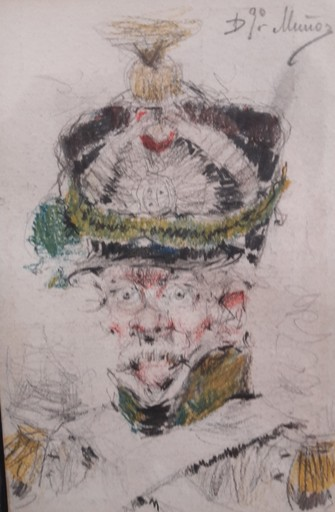 Domingo MUÑOZ Y CUESTA - Painting - CABEZA DE MILITAR