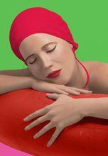 Carole FEUERMAN - Grabado - Serena with red cap