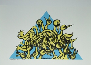LABRONA - Print-Multiple - Lying in wait, (blue yellow) -2012