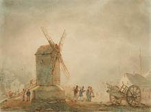 Théodore GUDIN (1802-1880) - Devant le moulin