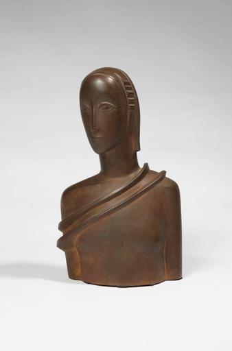 Gustave MIKLOS - Sculpture-Volume - Buste de femme