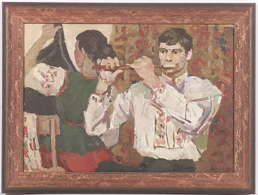 "Elena Vatslovana YANCHAK - Peinture - ""Before Concert"" by Elena Yanchak (b. 1918), Oil Painting"