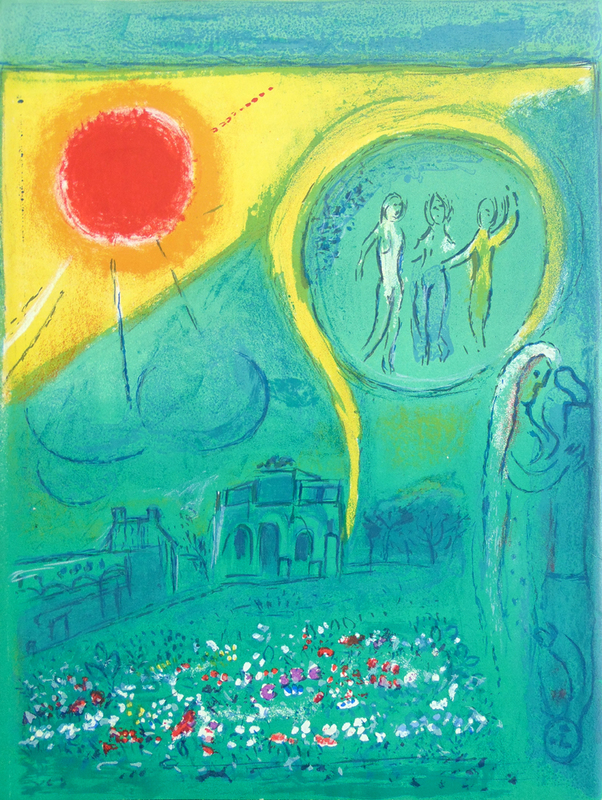 Marc CHAGALL - Print-Multiple -  The Carrousel of the Louvre, from: Derrière le Miroir