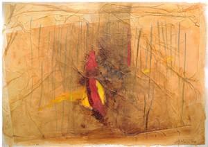 LELLO MASUCCI - Painting - Velato Rosso Giallo