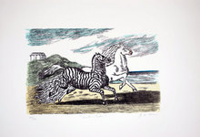 乔治•德•基里科 - 版画 - Cavallo e zebra, 1974