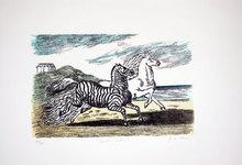 Giorgio DE CHIRICO - Grabado - Cavallo e zebra, 1974