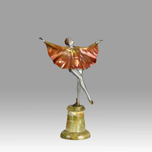 "Josef LORENZL - Sculpture-Volume - Art Deco ""Butterfly Dancer"""
