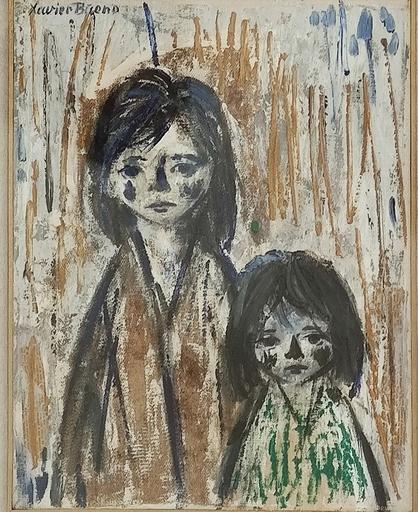 Xavier BUENO - Pittura - Due ragazze