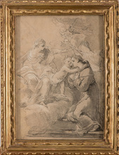 Gaetano GANDOLFI - Dibujo Acuarela - Visione di Sant'Antonio da Padova