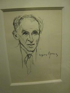 Arpad SZENES - Drawing-Watercolor - PORTRAIT  D HOMME  1957