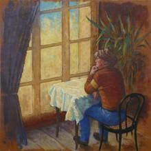 Carlos ESTEBAN - Painting - Femme a la fenêtre (Cat N° 3435)