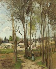Camille PISSARRO (1830-1903) - Le Village à Travers les Arbres