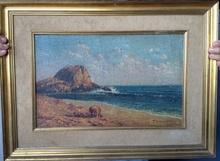 Pedro ISERN ALIÉ - Pintura - Vista costera
