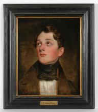 "Friedrich Ritter VON AMERLING - Pintura - ""Portrait of Herr Eyb? Herr Pigler?"" oil on canvas"