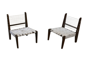 Pierre JEANNERET - PIERRE JEANNERET PAIR OF DEMOUNTABLE CHAIRS