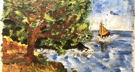 "Ginés PARRA - Gemälde - ""Paysage marin"" Paysage côtier"