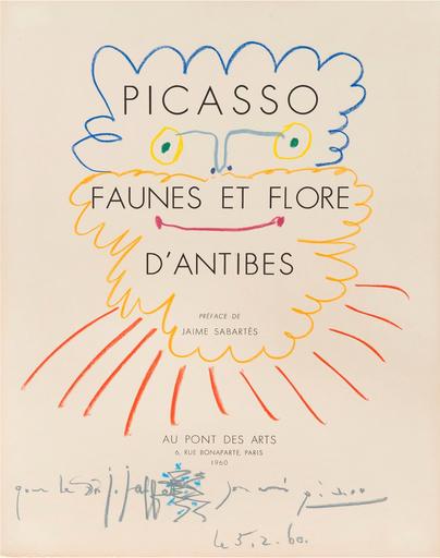 Pablo PICASSO - Drawing-Watercolor - Tête de barbu