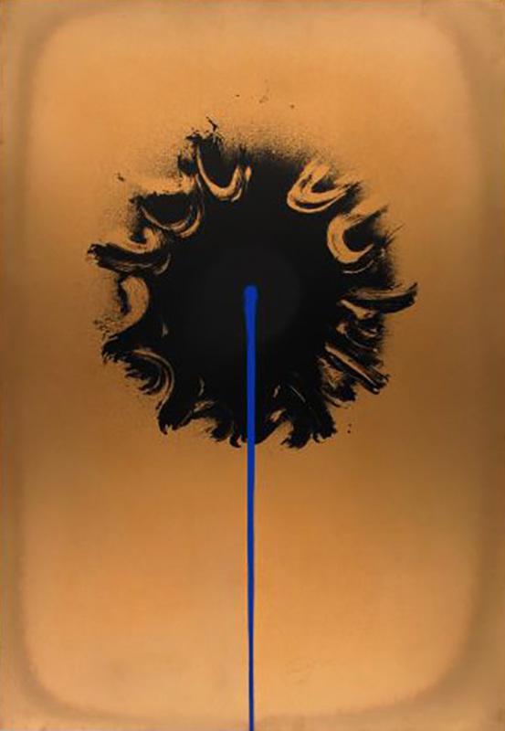 Otto PIENE - Druckgrafik-Multiple - Blue Streak