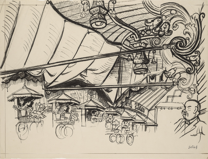 Karl HUBBUCH - Drawing-Watercolor - Deutsch-französische Verständigungsversuche