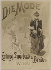 """Theodor ZASCHE - Drawing-Watercolor - """"Fashion Catalogue Cover Design"""", ca.1900"""
