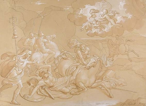Francesco COGHETTI - Dibujo Acuarela - THE CONVERSION OF ST PAUL (Acts 9:1-9)