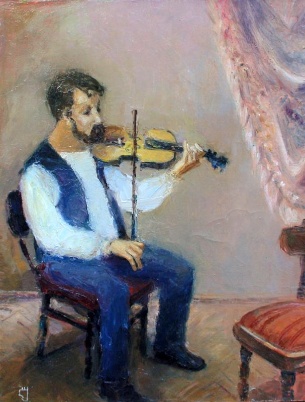 Levan URUSHADZE - Pintura - Violinist