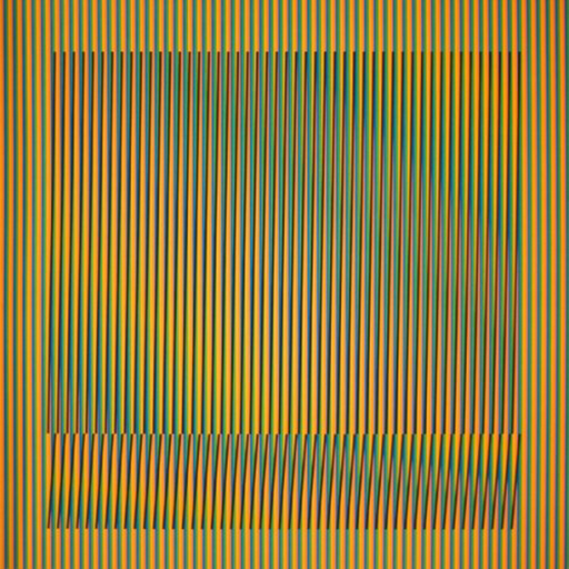 Carlos CRUZ-DIEZ - Estampe-Multiple - Induction Chromatique a double fréquence Série Orinoco 5