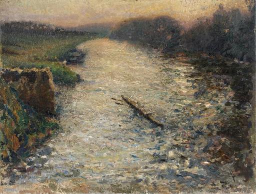 Emilio BOGGIO - Peinture - Les canotiers sur l'Oise