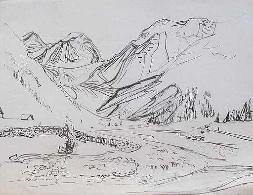 Erich HARTMANN - Dibujo Acuarela - #19945: Plangeross.