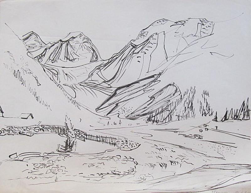 Erich HARTMANN - Dessin-Aquarelle - #19945: Plangeross.