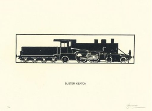Joan BROSSA - Grabado - Buster Keaton