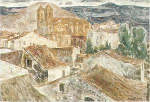 Josep Maria MORATO ARAGONES - Painting - Pueblo de Cornudella