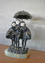 Dimitri CHIPARUS - Escultura - Three girls