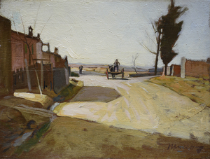 Maceo CASADEI - Pittura - la strada di campagna