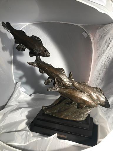 Rachel VAN DANTZIG - Scultura Volume - La Fuite groupes de poissons