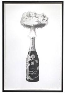 Eugenio MERINO - Drawing-Watercolor - Celebrating destruction (Perrier-Jouet)