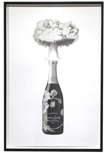 Eugenio MERINO - Disegno Acquarello - Celebrating destruction (Perrier-Jouet)