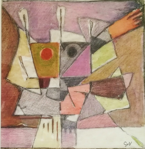 Geer VELDE VAN - Dibujo Acuarela - composition