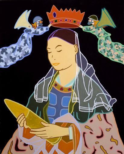 """Mauro DRUDI - Pittura - """"Madonna dell'Ogiva"""" - """"The Virgin of the Ogive"""""""