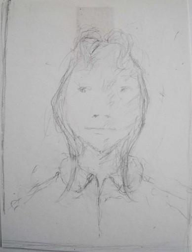 Julie SCHAETZLE - Dibujo Acuarela - Portrait fillette III