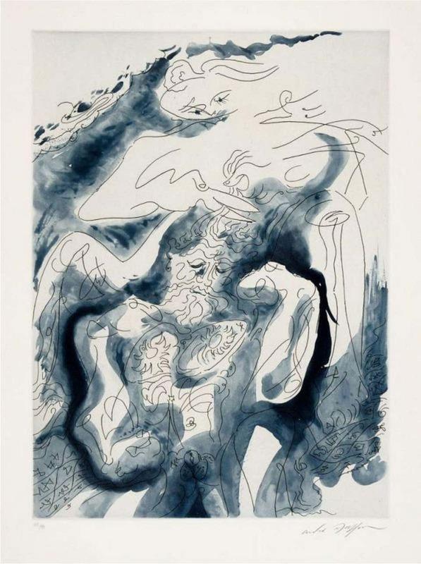André MASSON - Print-Multiple - Samson et Dalida