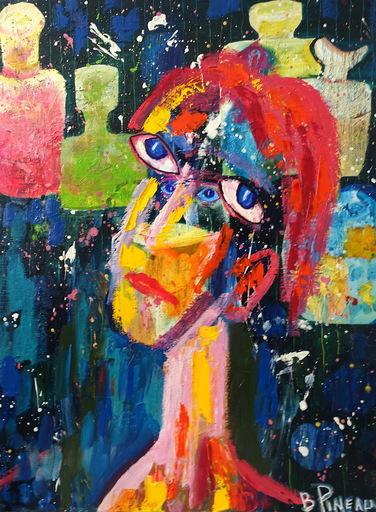 Bernard PINEAU - Painting - H052 L'Alchimiste
