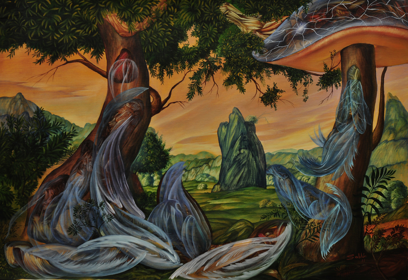 Carlos SABLÓN - Peinture - L'Invocation des Mythes II