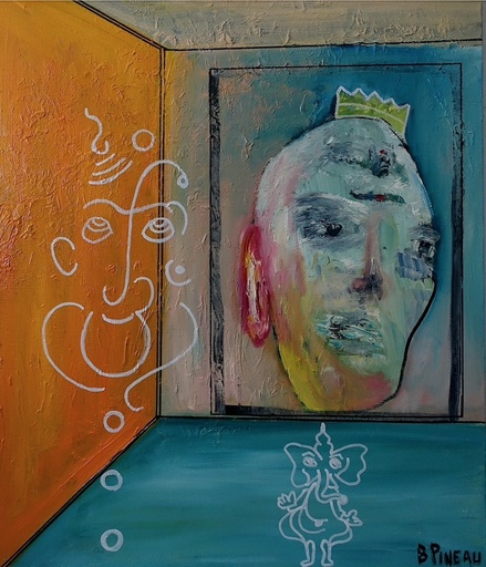 Bernard PINEAU - Painting - H059 Saddhu
